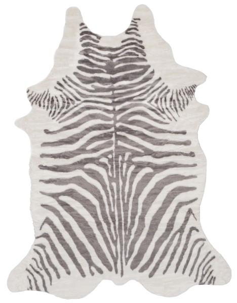 Grey, White (RUA-1005) Animals / Animal Skins Area Rug