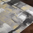 Product Image of Black, Medium Gray, Mustard, Cream (PEI-1020) Abstract Area Rug