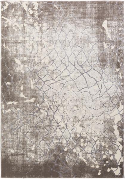 Taupe, Camel, Medium Gray, Khaki Contemporary / Modern Area Rug