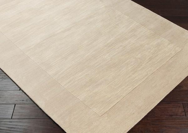 Light Grey, Cream (M-348) Bordered Area Rug