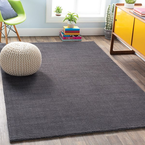Charcoal (M-341) Solid Area Rug