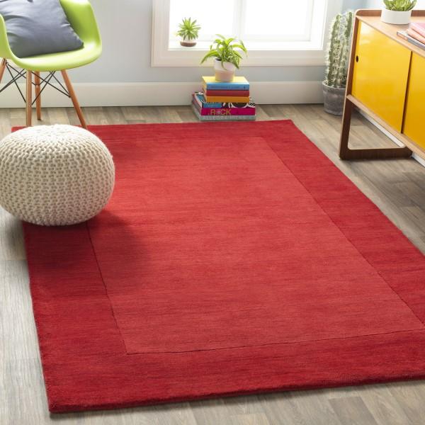 Dark Red (M-299) Contemporary / Modern Area Rug