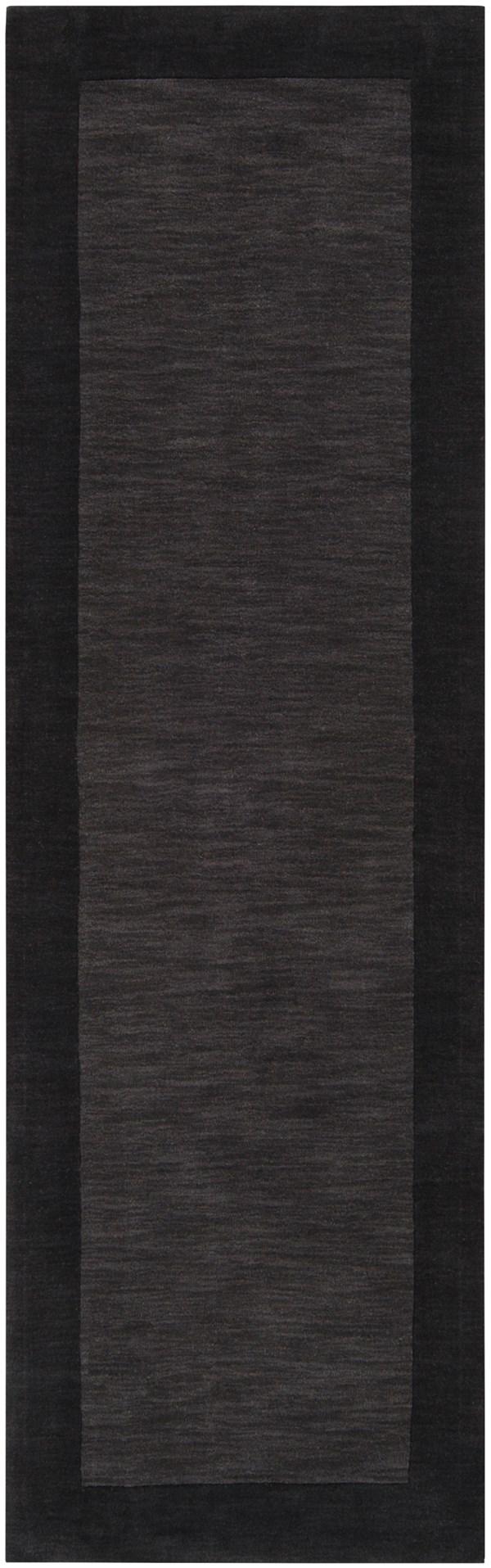 Charcoal, Black (M-347) Bordered Area Rug