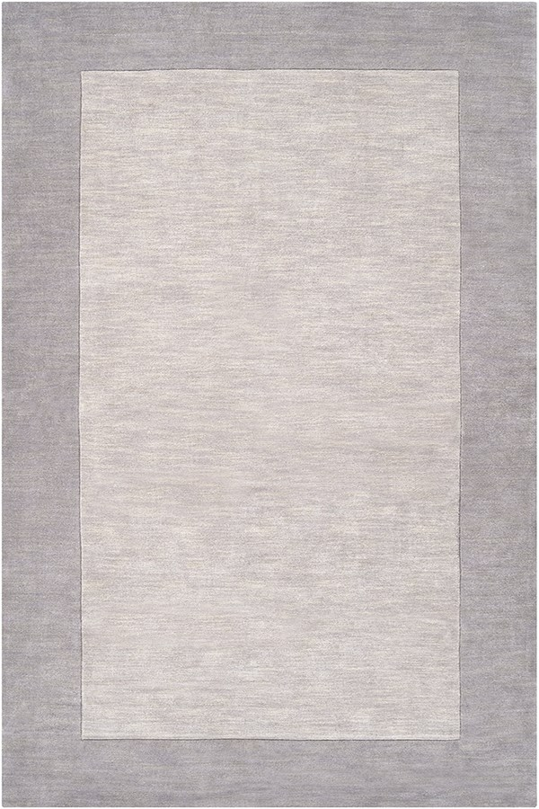 Medium Gray, Camel (M-312) Bordered Area Rug