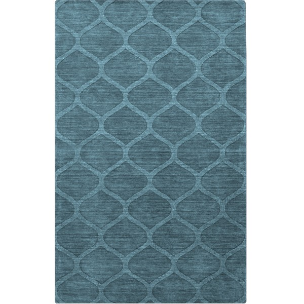 Teal (M-5109) Contemporary / Modern Area Rug