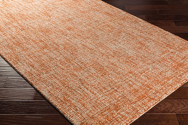 Burnt Orange, Khaki (WLK-1003) Solid Area Rug