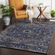 Product Image of Navy, Charcoal, Grey (AMS-1017) Traditional / Oriental Area Rug