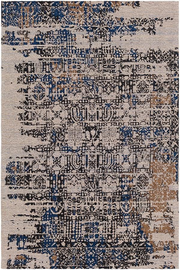 Navy, Charcoal, Camel, Ivory, Denim (AMS-1015) Vintage / Overdyed Area Rug