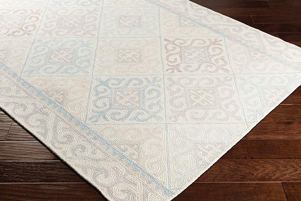 Denim, Medium Gray, Light Gray Moroccan Area Rug