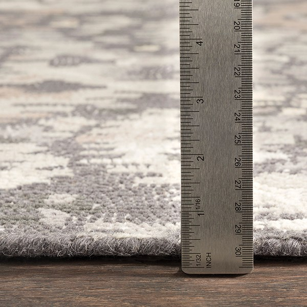 Charcoal, Medium Gray Vintage / Overdyed Area Rug