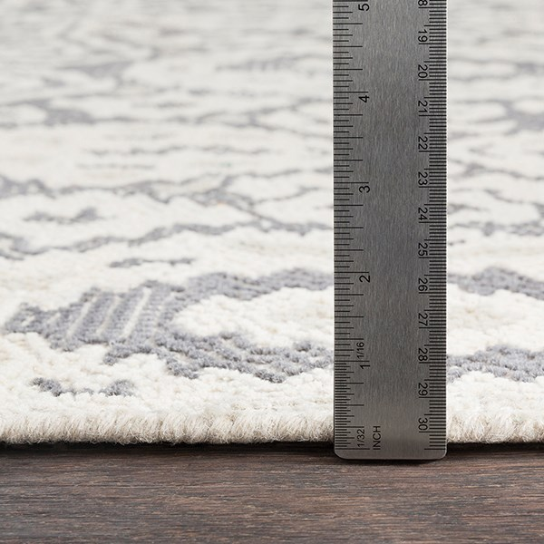 Charcoal, Cream, Pale Blue Vintage / Overdyed Area Rug