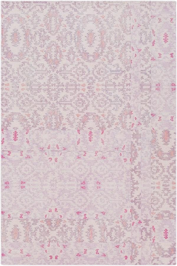 Blush, Mauve, Lilac Vintage / Overdyed Area Rug