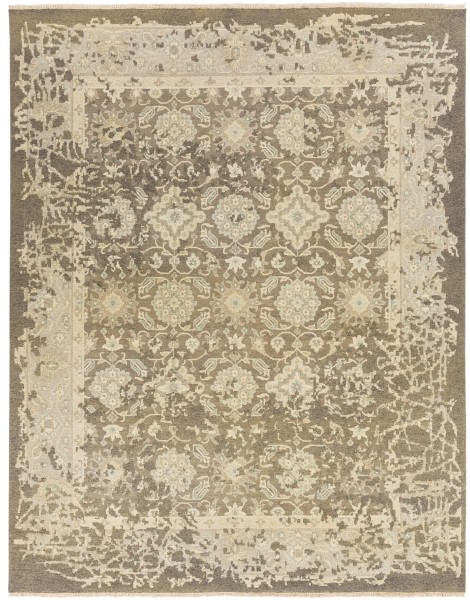 Camel, Taupe, Gray, Cream Vintage / Overdyed Area Rug