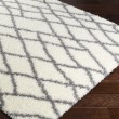Product Image of White, Medium Grey (CYS-3410) Shag Area Rug