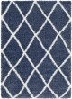 Product Image of Shag Navy, White (CYS-3404) Area Rug