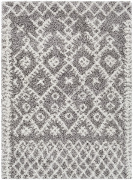 Taupe, Cream, Black (CYS-3416) Shag Area Rug