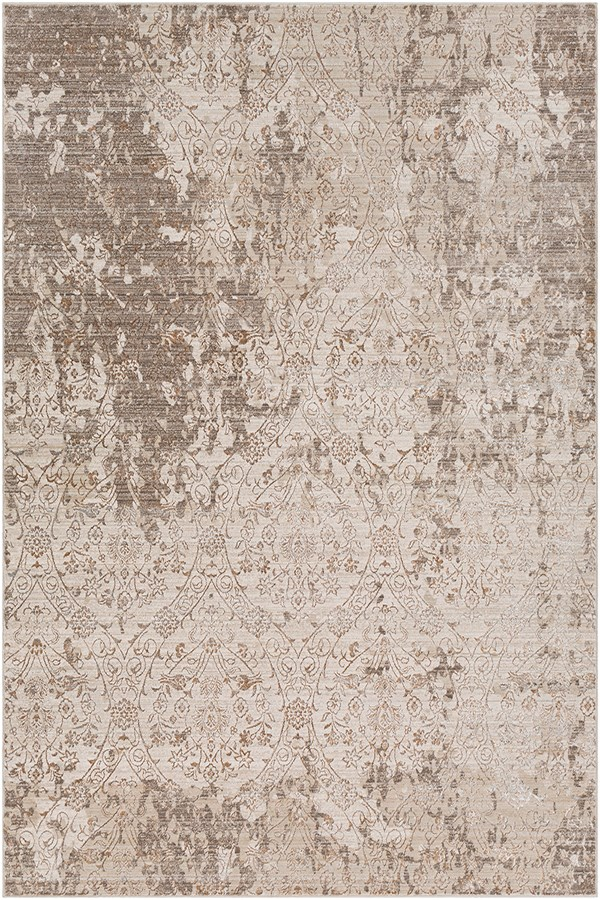 Dark Brown, Camel, Khaki Vintage / Overdyed Area Rug