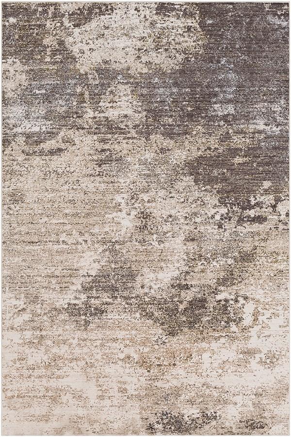 Beige, Medium Gray, Charcoal Abstract Area Rug
