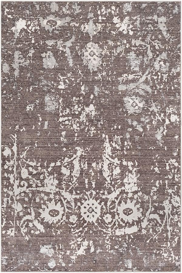 Camel, Dark Brown, Khaki, Silver Vintage / Overdyed Area Rug