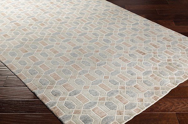 Khaki, Taupe, Medium Grey, Tan (FNT-1002) Contemporary / Modern Area Rug