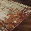 Product Image of Dark Brown, Tan, Bright Orange, Dark Red, Khaki Vintage / Overdyed Area Rug