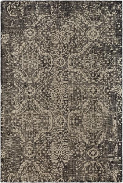 Black, Khaki Vintage / Overdyed Area Rug
