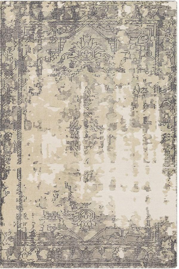 Tan, Medium Grey, Navy, Sage, Khaki Vintage / Overdyed Area Rug