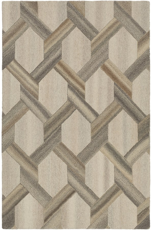 Butter, Khaki, Taupe, Camel Contemporary / Modern Area Rug