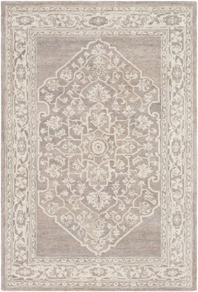 Camel, Khaki, Charcoal Traditional / Oriental Area Rug