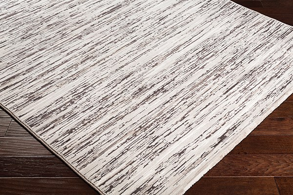 Dark Brown, Taupe, Taupe Contemporary / Modern Area Rug
