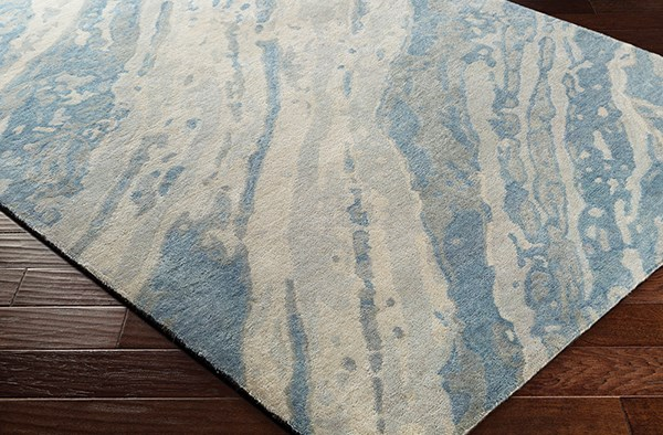 Denim, Sage, Ivory Abstract Area Rug