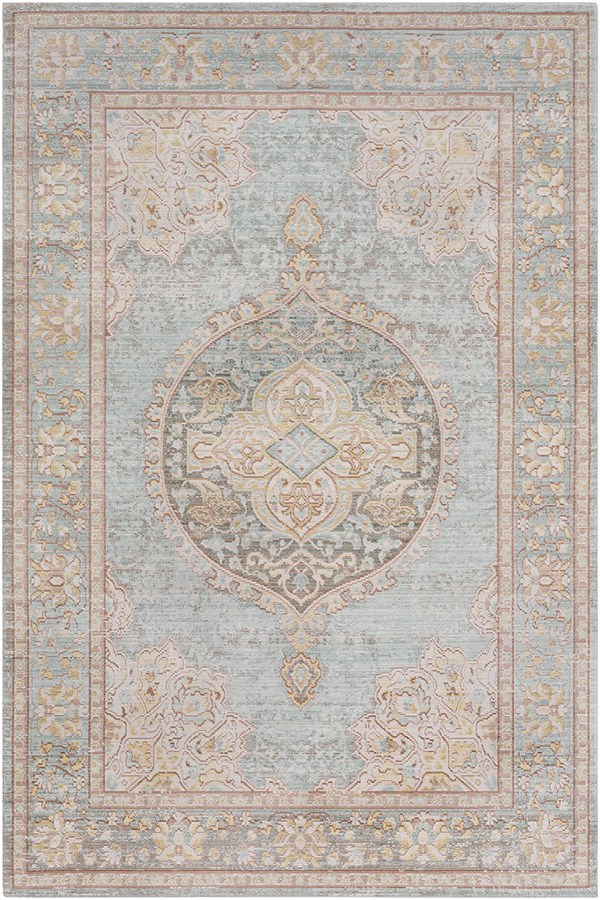 Sea Foam, White, Camel Traditional / Oriental Area Rug