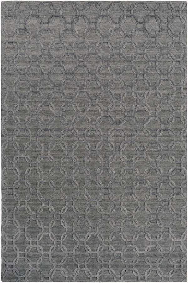Gray, Black (AET-1000) Textured Solid Area Rug