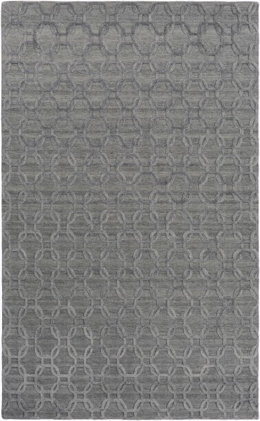 Gray, Black (AET-1000) Solid Area Rug
