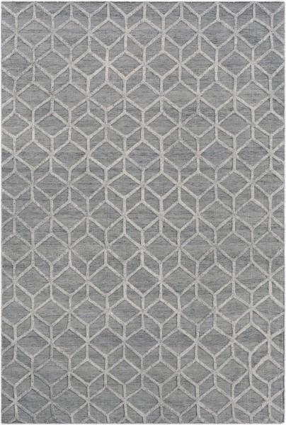 Medium Grey, Ivory (AET-1004) Solid Area Rug