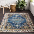 Product Image of Sky Blue, Bright Blue, Saffron, Lime, Pink, Navy Traditional / Oriental Area Rug