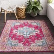 Product Image of Bright Pink, Rose, Sky Blue, Lime, Beige, Grey Traditional / Oriental Area Rug