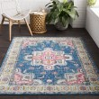Product Image of Sky Blue, Bright Blue, Rose, Charocal, White, Lime Traditional / Oriental Area Rug