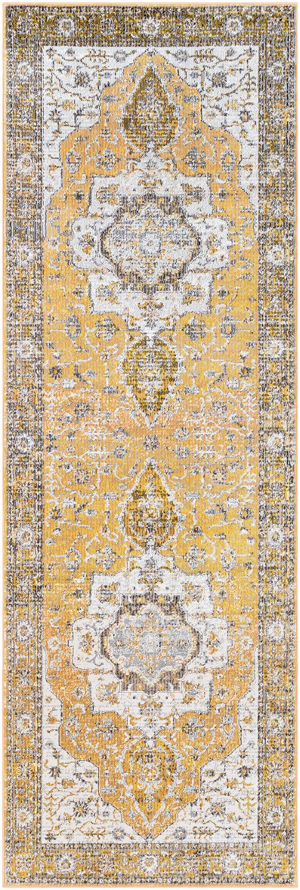 Saffron, Bright Yellow Traditional / Oriental Area Rug