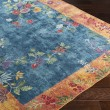 Product Image of Bright Blue, Navy, Bright Yellow Floral / Botanical Area Rug