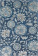 Product Image of Sky Blue, Bright Blue, Navy Floral / Botanical Area Rug
