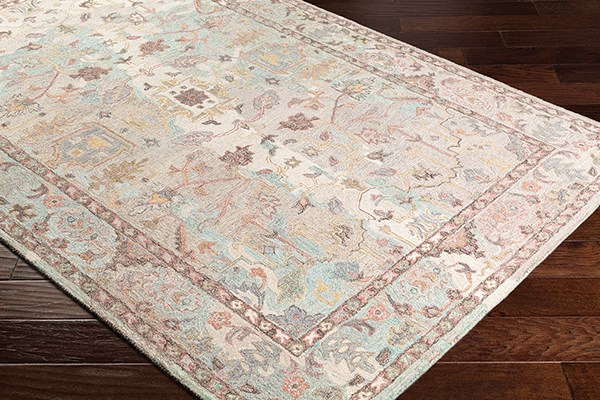Cream, Khaki, Sage, Taupe, Camel, Teal Traditional / Oriental Area Rug