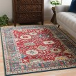 Product Image of Dark Red, Burnt Orange, Navy, Olive, Khaki, White Traditional / Oriental Area Rug