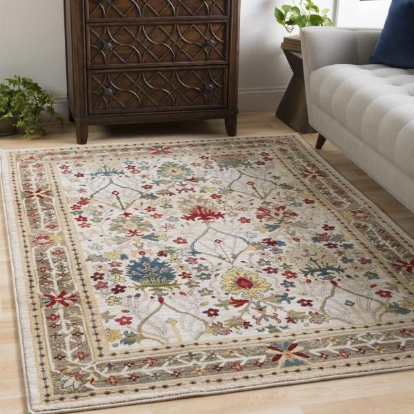 White, Khaki, Dark Red, Camel, Olive, Navy Traditional / Oriental Area Rug