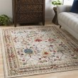 Product Image of White, Khaki, Dark Red Traditional / Oriental Area Rug