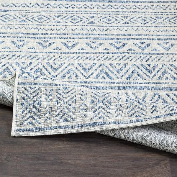 Grey, Blue, Black (TNG-2306) Outdoor / Indoor Area Rug