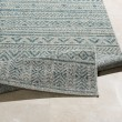 Product Image of Light Grey, Aqua, White (TNG-2307) Outdoor / Indoor Area Rug