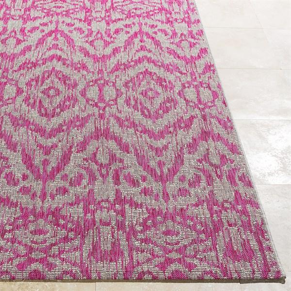 Light Grey, Pink, White (TNG-2325) Outdoor / Indoor Area Rug
