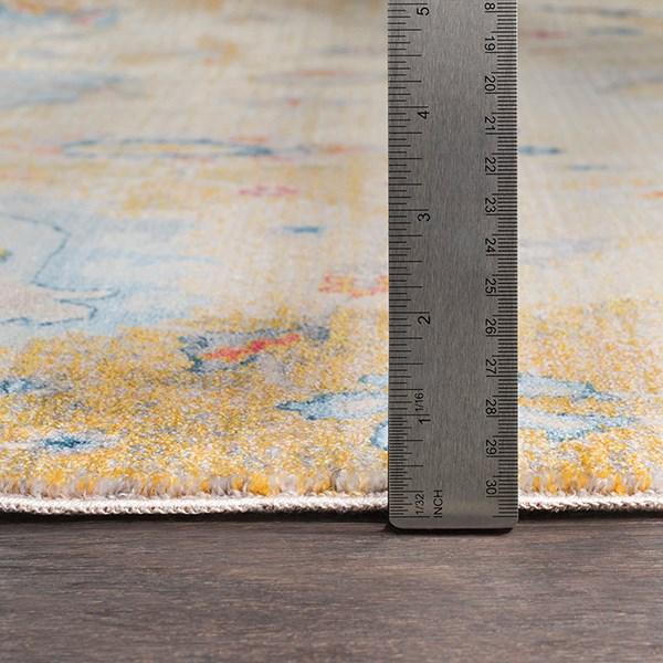 Saffron, Medium Gray, Cream Traditional / Oriental Area Rug