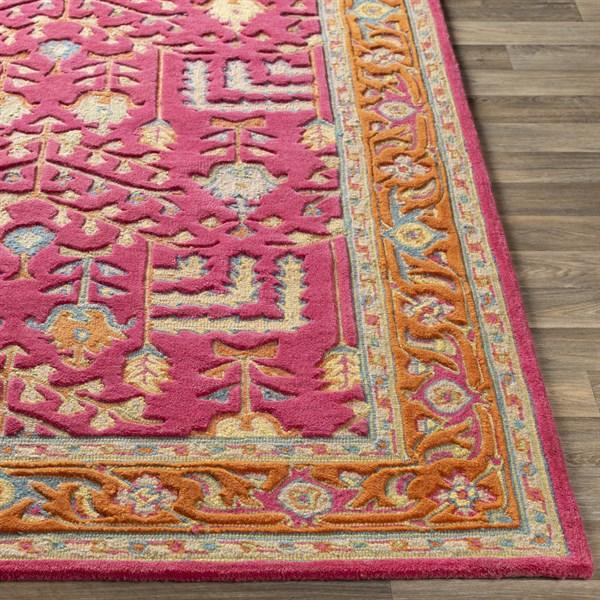 Pink, Yellow, Denim, Orange (FIR-1000) Traditional / Oriental Area Rug
